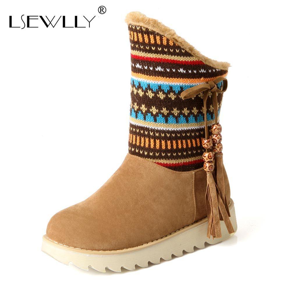 Lsewilly/Снегоступы женские зимние ботинки на платформе водонепроницаемые полусапожки ботинки на меху со шнуровкой коричневые черные коротки...