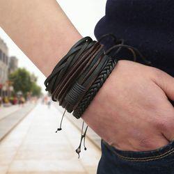Браслеты и браслеты мужские кожаные браслеты 2019 Pulseira ювелирные изделия для мужчин Шарм Bileklik Pulseiras для парня девушки