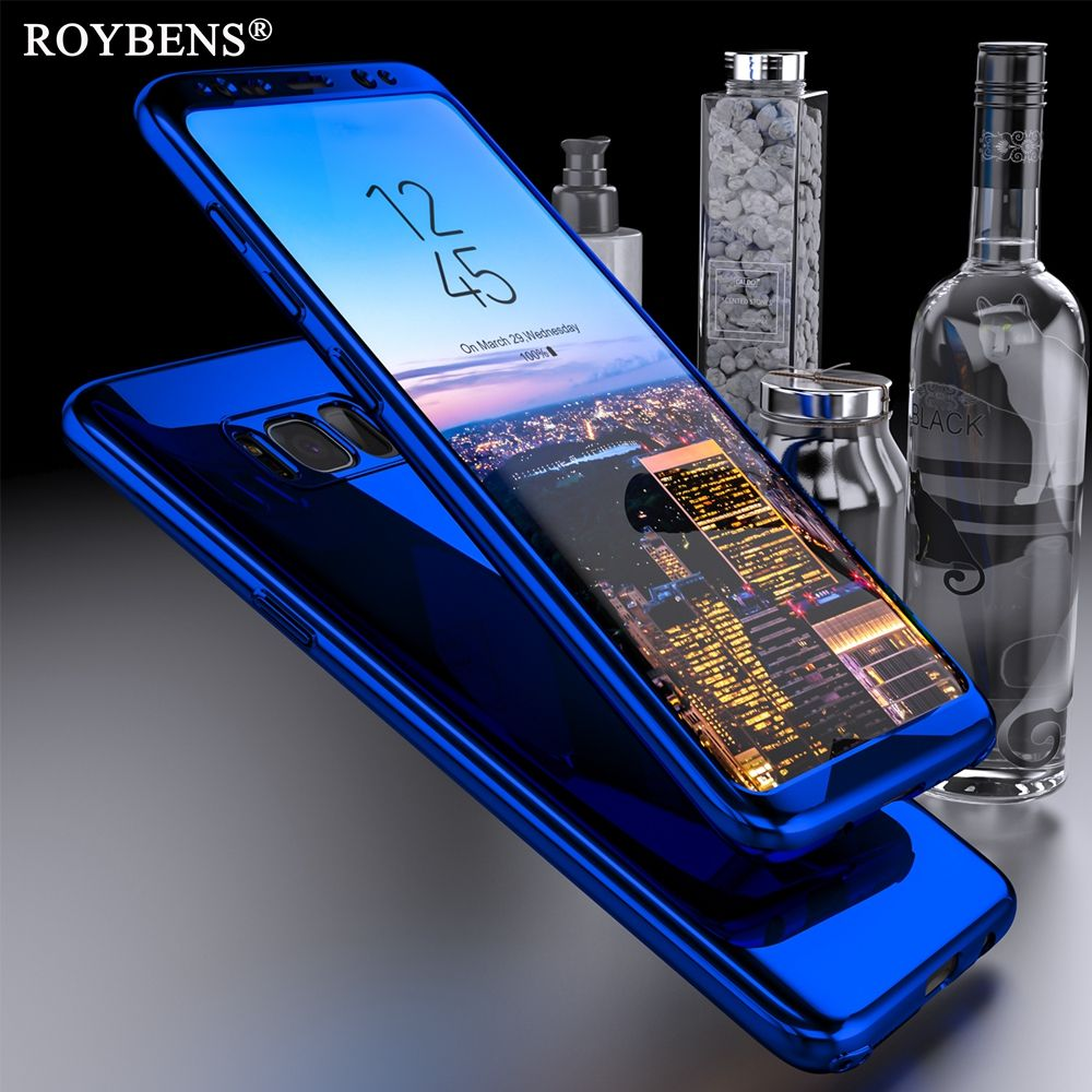 Roybens For Galaxy Note 8 Case Luxury Mirror 360 Ultra Thin Full Protection Case For Samsung Galaxy S8 Plus S7 Edge S9 S9+ Cover