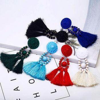 2018 Brincos Femmes Marque Boho Baisse Balancent Fringe Boucle D'oreille Vintage Ethnique Déclaration Gland boucles d'oreilles mode bijoux Charmes e0502