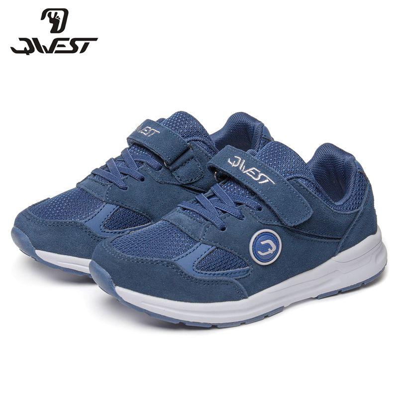 QWEST Marke Solide Bogen Haken & Schleife Kinder Sport Schuhe Frühling & Sommer Größe 30-36 Kinder Sneaker für junge 81K-NQ-0624