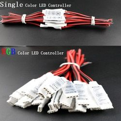 12 V mini 3 Llaves solo color RGB LED controlador dimmer brillo para LED 3528 Luz de tira 5050 Shipp libre al por mayor caliente 1 unids DJ