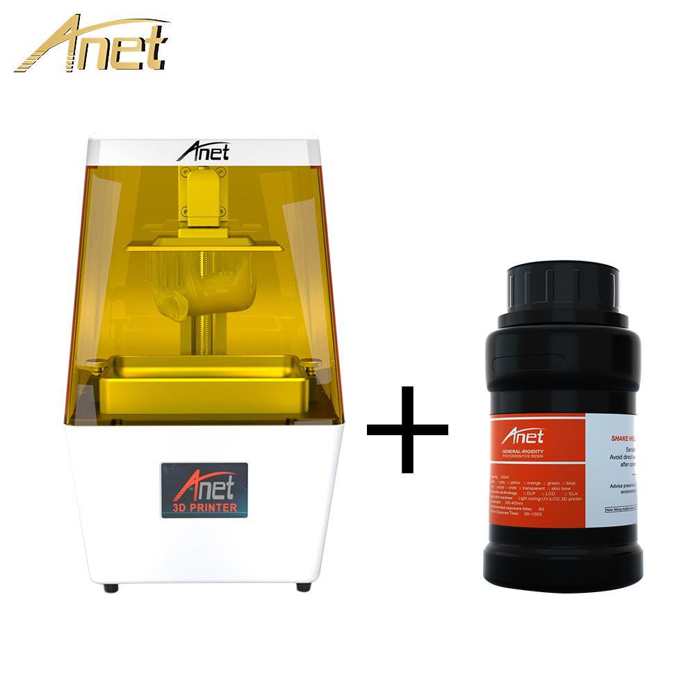 2019 Anet N4 LCD 3D Drucker Hohe Präzision 40um mit 3,5 inch LCD Screen Off-Line Druck Impresora 3d drucker Impressora UV Harz