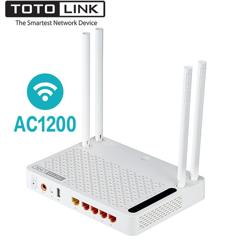 TOTOLINK A3002RU AC1200 Wireless Router Smart Dual Band 2.4GHz/5.0GHz Gigabit Wifi Router Wireless Repeater,Russian firmware