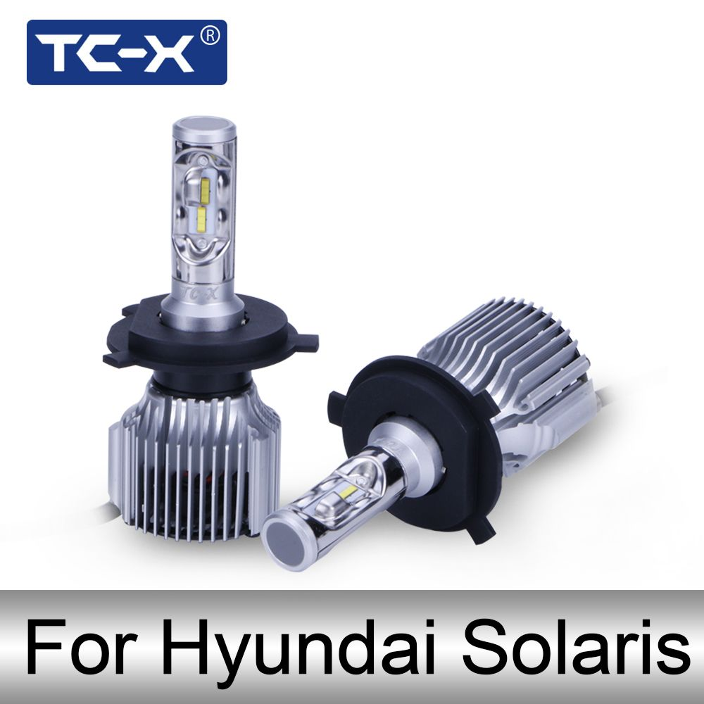 TC-X Car Headlight For Hyundai Solaris 880 881 Fog light led H4 High low Beam Replacement Bulb Car Light Source LED 12v 6000k
