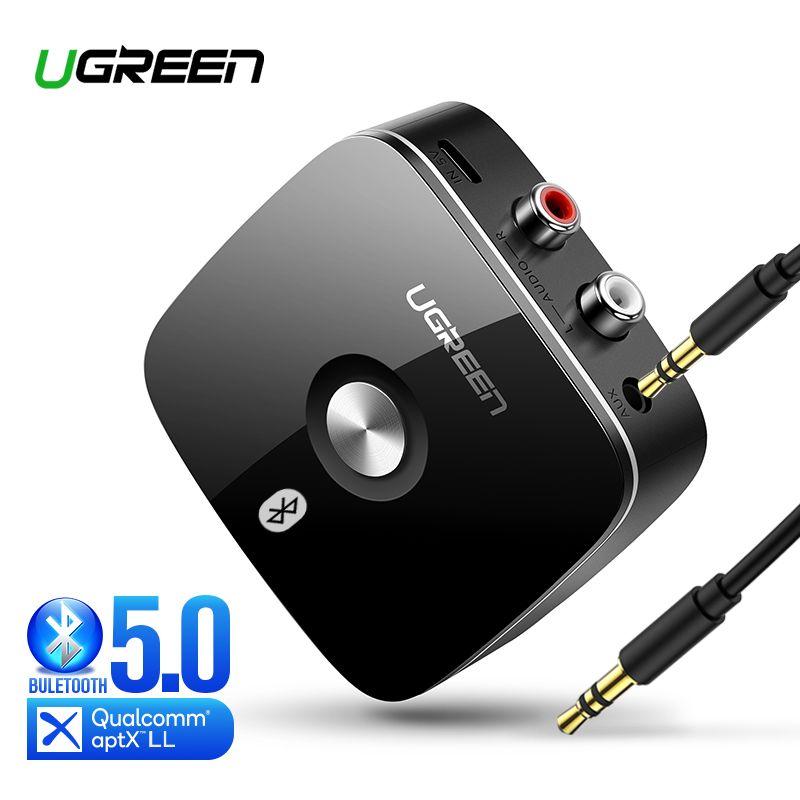Ugreen Bluetooth RCA récepteur 5.0 aptX LL 3.5mm Jack Aux adaptateur sans fil musique pour casque 2RCA Bluetooth 3.5 récepteur Audio