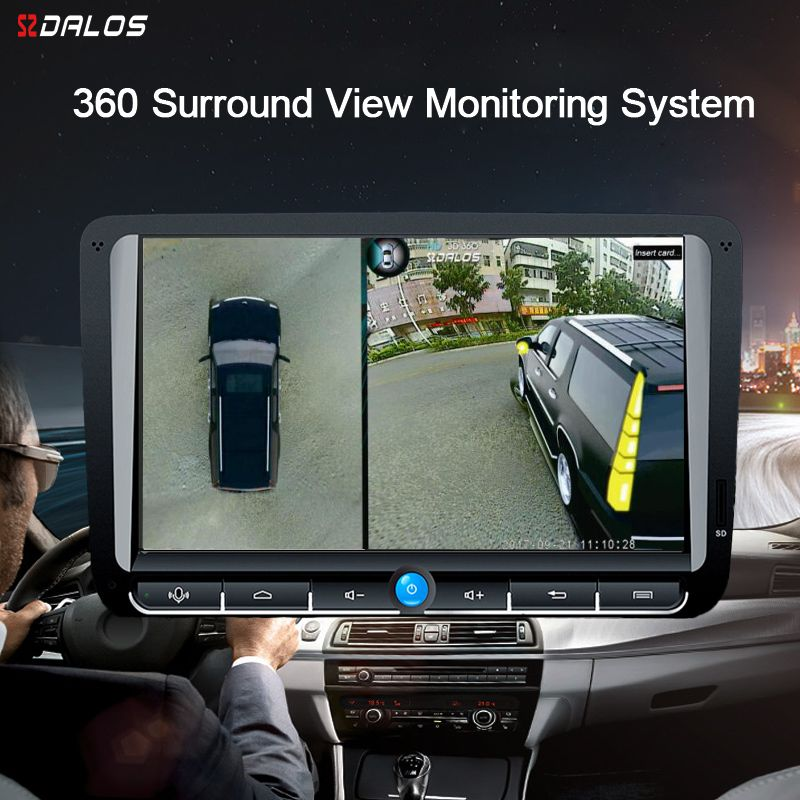 SZDALOS For SUV HD 360 Degree 3D Surround Driving Bird View Panorama With 4 Car Camera 1080P recorder
