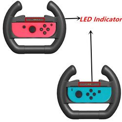 2pcs Upgrated Joy-con Steering Racing Wheel Handle Grip for Nintend Switch NS Nintendo Controller Accessories With LED Indicator