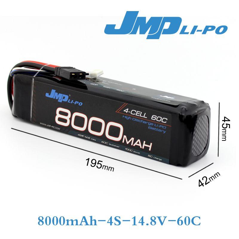 2Pcs JMP Lipo Battery 4S 8000mAh 14.8V Battery Pack 60C Battery for TRAXXAS X-MAXX 77086-4
