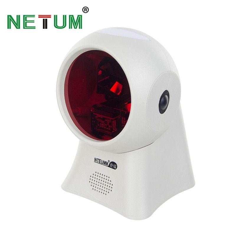 NT-2020 Automatic Omnidirectional Barcode Scanner AND NT-2050 Desktop Hands-free USB 2D QR Bar code Reader for POS System NETUM