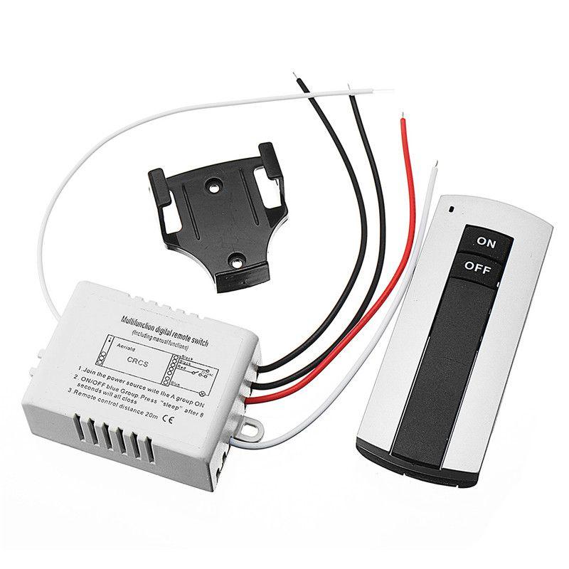 1 Way ON/AUS Lampe Licht Digitale Switch Dual Taste Drahtlose Fernbedienung 240 V Besten Preis