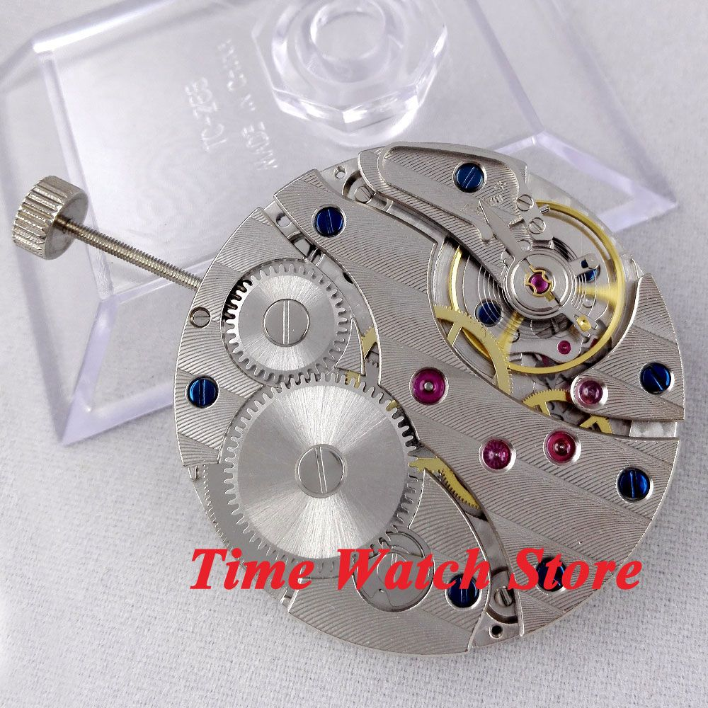 Parnis 17 Jewels swan neck mechanical 6497 Hand-Winding movement fit men's watch M1