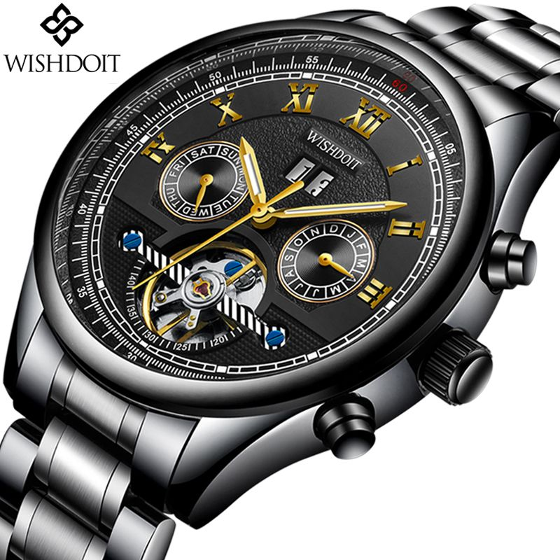 2018 WISHDOIT Watch Men Top Brand Luxury Men's Automatic Mechanical Watches Mens Casual Business Waterproof Watch Montre Homme