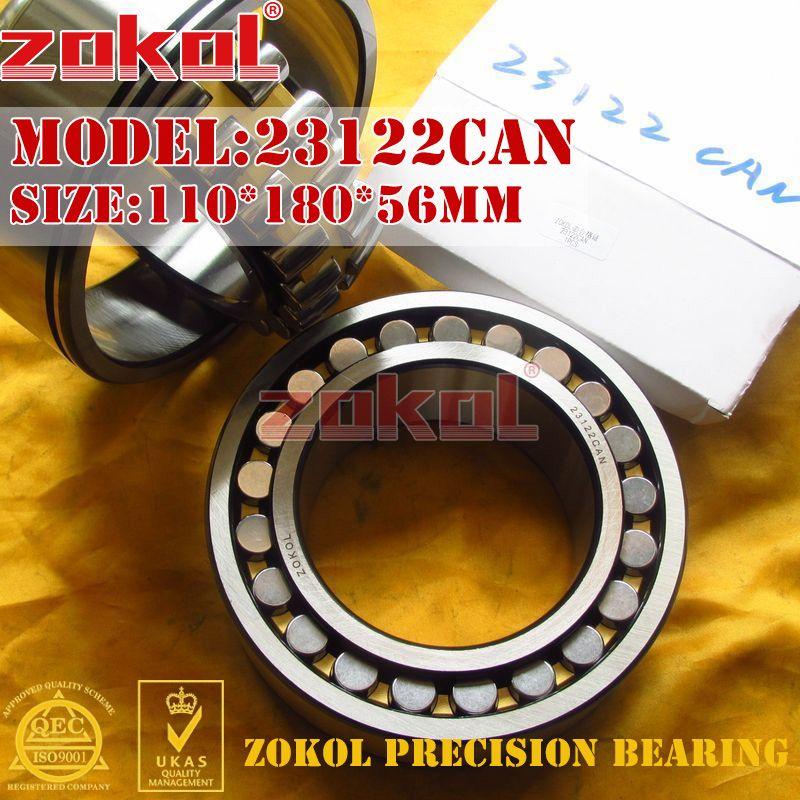 ZOKOL 23122CAN bearing 23122CA-N 23122CA N Spherical Roller bearing 3053722H-N self-aligning roller bearing 110*180*56mm
