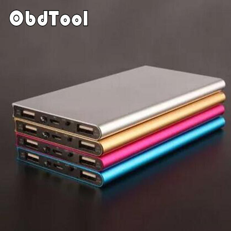 ObdTooL Power Bank 20000 Mah Powerbank 20000Mah 5V 1A Portable External Battery Pack Charger For Iphone XiaoMi Moible Phone LR15