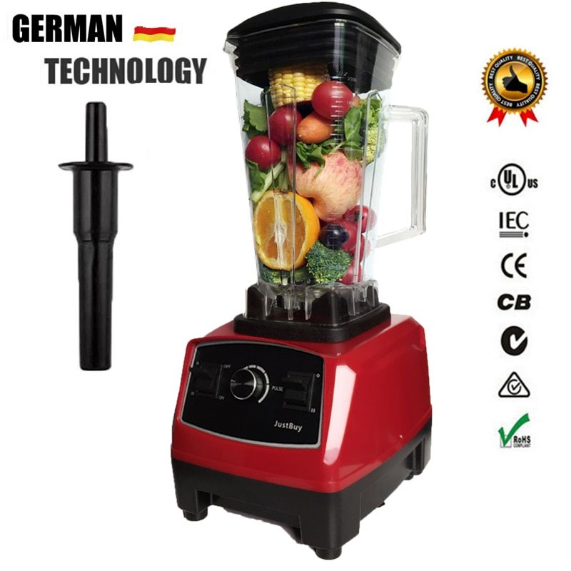 BPA FREI 3HP 2200 watt Heavy Duty Handels Blender Mixer Entsafter High Power Küchenmaschine Eis Smoothie Bar Obst Elektrische mixer
