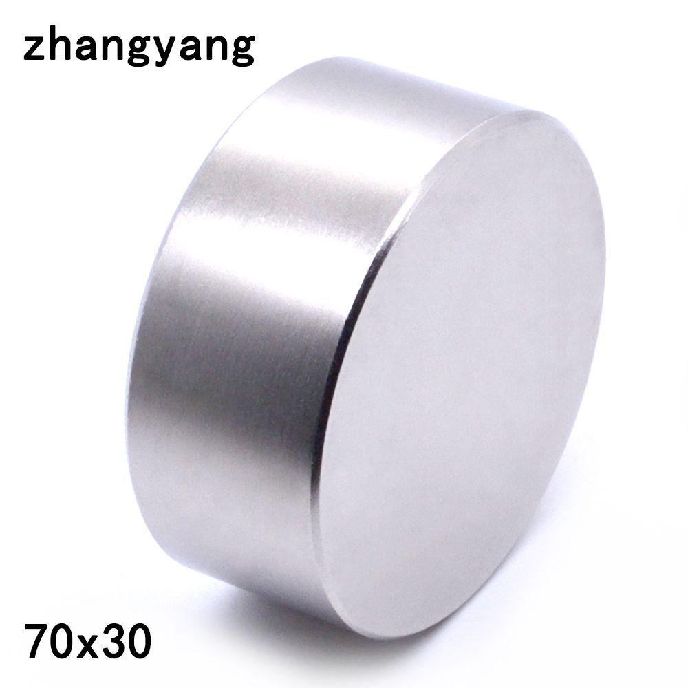 1 STÜCKE neodym-magnet 70x30mm gallium metall hot super starke runde magnete 70*30 leistungsstarke permanent magneten 70mm x 30mm
