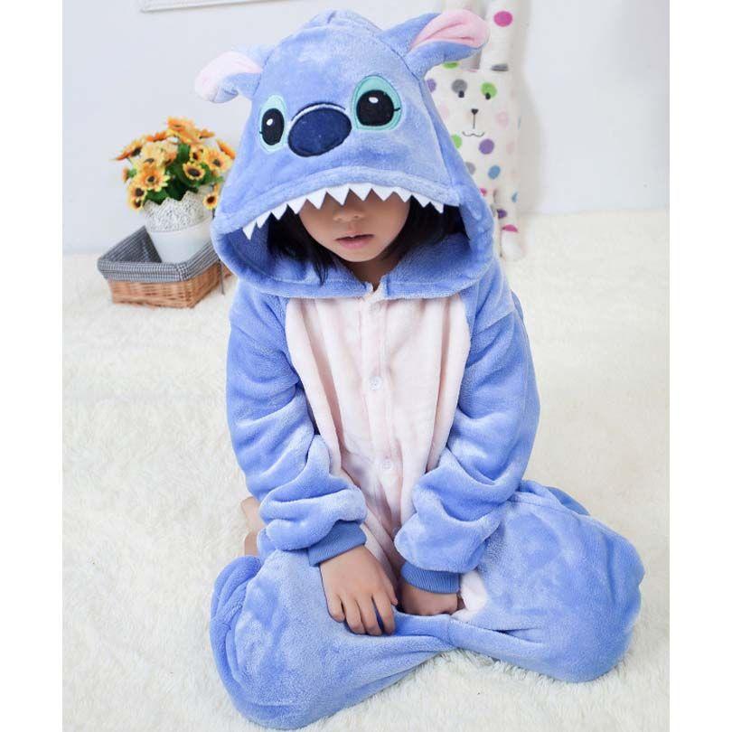 Combishort points de maternelle combinaison enfants Pijama enfants Animal Cosplay Costume Kigurumi grenouillère couverture pyjamas