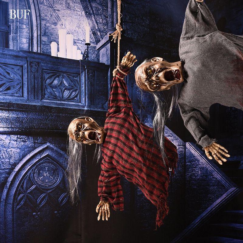 BUF Halloween Parti Hanging Décoration Électrique esprit Créatif Halloween Party Décoration Effrayant Horreur Fantômes Avec Capteur de Lumière