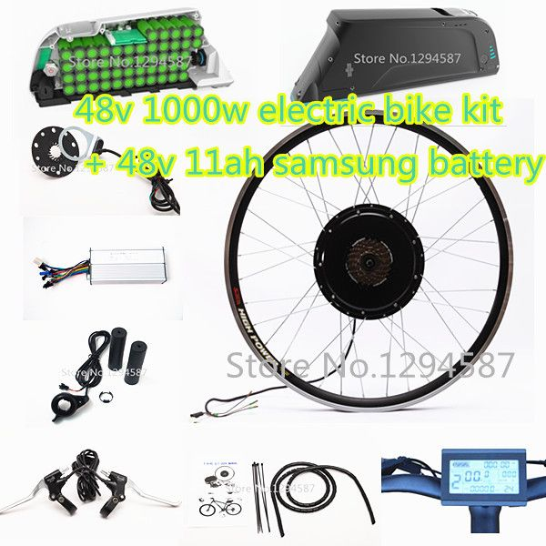 The 50kph speed 20-28 Ebike kit 48v 1000w electric bike kit with 48v 12ah dolphin lithium battery pack