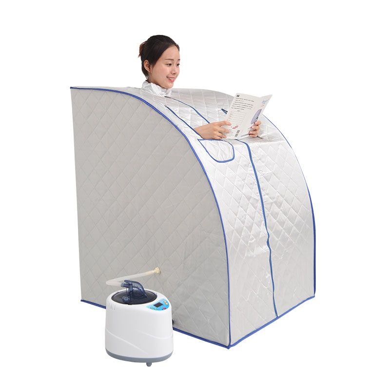 Portable Steam Sauna with steam generator capacity of 2L weight <font><b>loss</b></font> Home steam sauna bath spa Relaxes tired