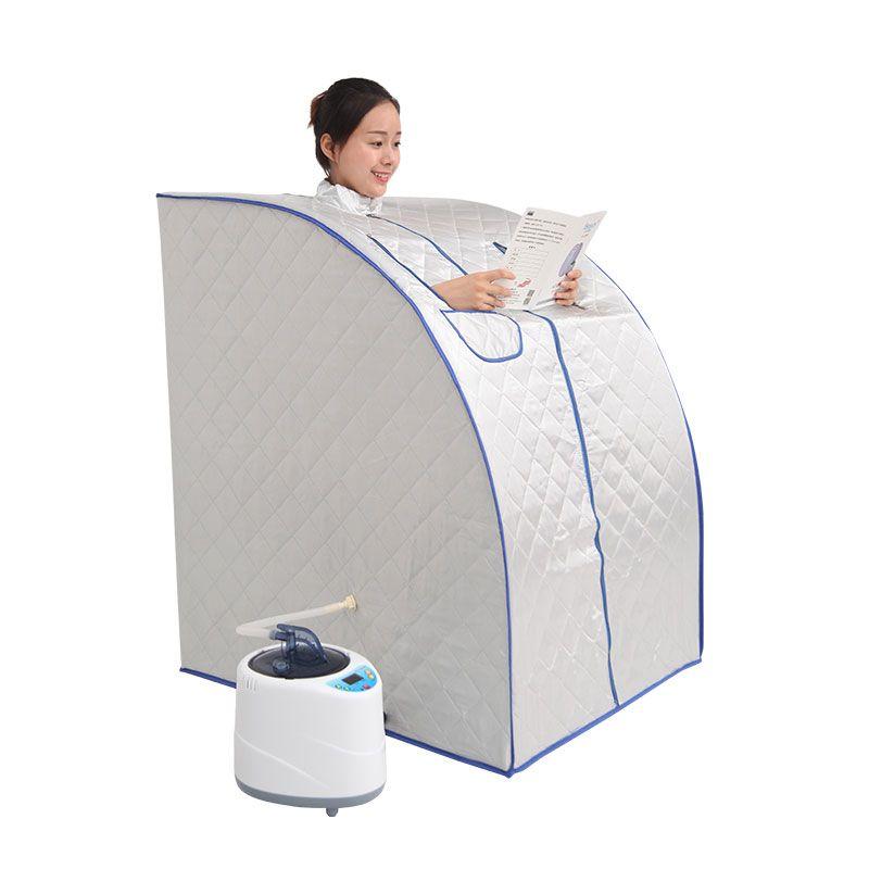 Tragbare Dampf Sauna mit dampf generator kapazität von 2L gewicht verlust dampf Hause sauna bad spa Entspannt müde