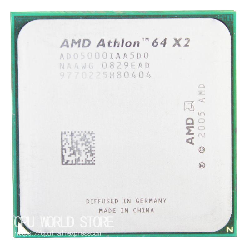 AMD Athlon 64x2 5000 + de doble núcleo CPU procesador 2.6 GHz/1 m/1000 GHz socket AM2 940 pin trabajo