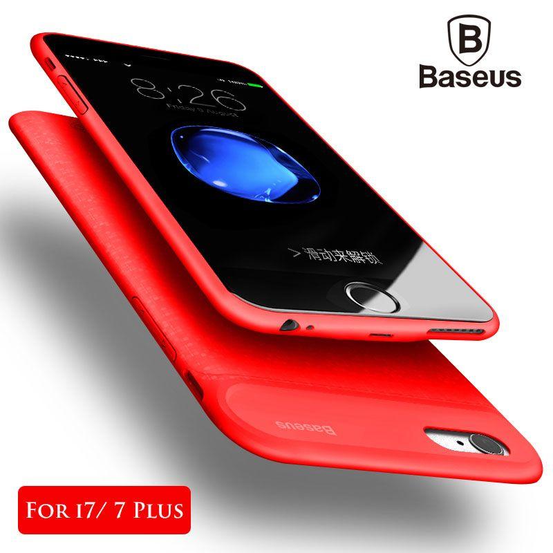 Baseus cargador de batería para el iPhone 7/7 más 5000/7300 mAh ultra delgado Baterías portátiles caja de reserva externa carga funda