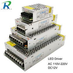 Питание светодиодный драйвер постоянного тока 12В малый объем один трансформатор 5A 15A 25A 3A dc12v вольт Выход переключения светодиодный для Свет...