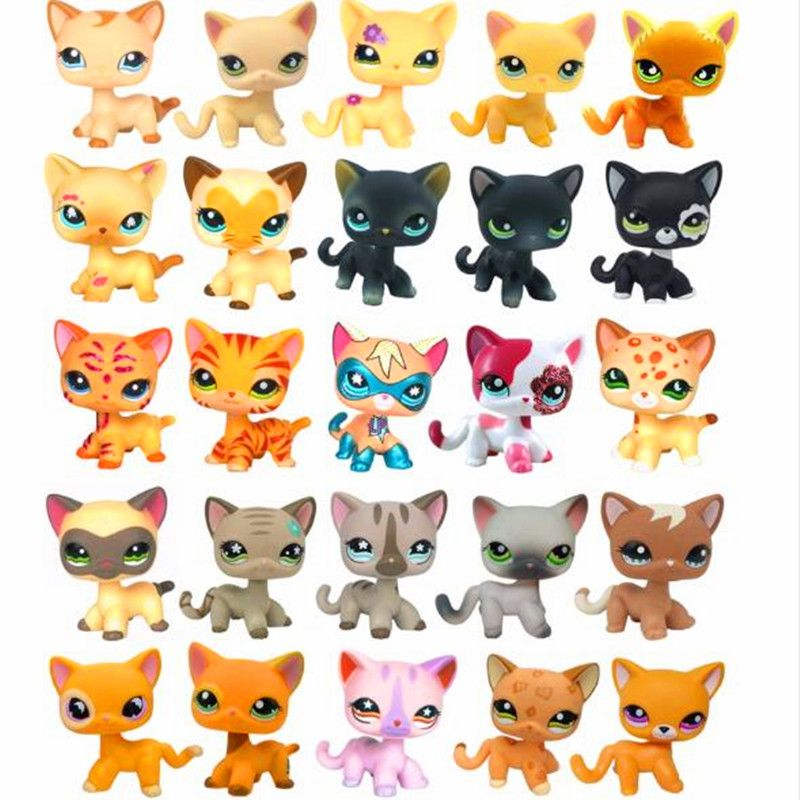 lps CAT toys pet shop Cute Short Hair  kitty animal christmas gifts