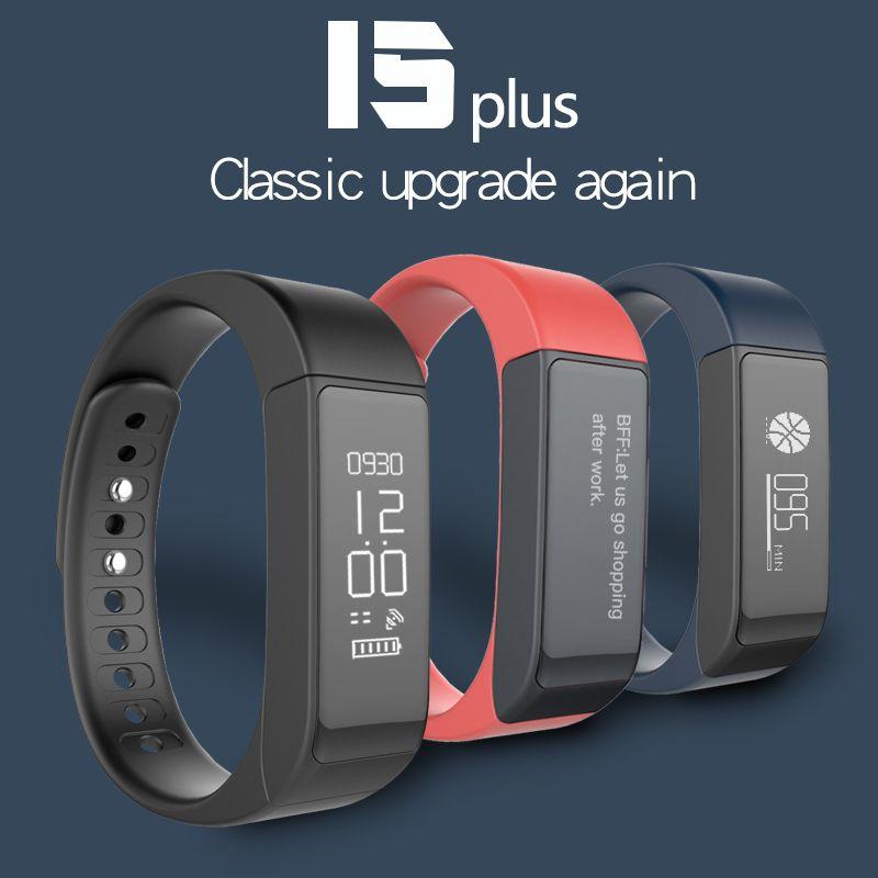 Tezer Original i5 Plus sports Smart Wrist band Bracelet Bluetooth 4.0 Activity Tracker Passometer Sleep Monitor Alarm black