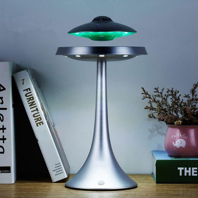 Smart Bluetooth lautsprecher bass stereo Magnetische suspension UFO stil design sieben farbe led-leuchten wasserdichte drahtlose lade