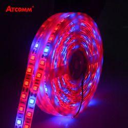 5 м светодиодный Фито лампы полного спектра светодиодные полосы света 300 светодиодный s 5050 Чип светодиодный Fitolampy растут огни для теплицы гид...