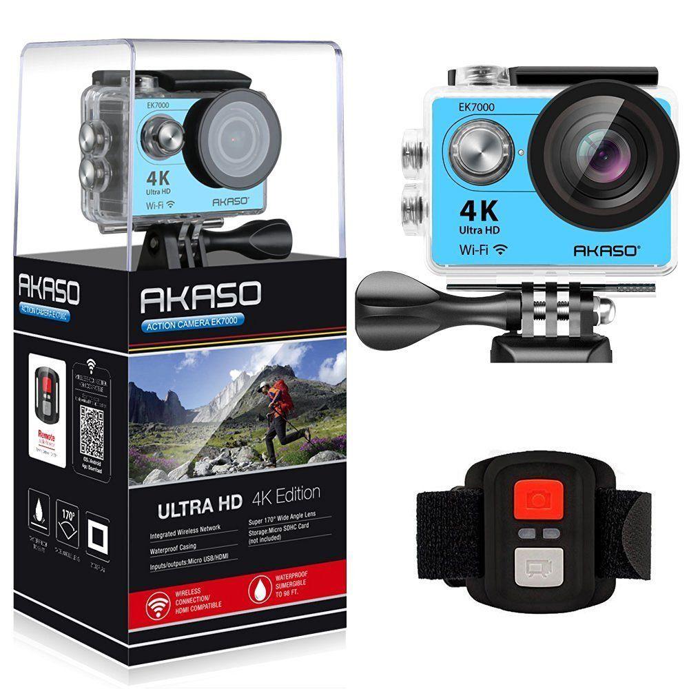 Original 2017 Version AKASO EK7000 4K Action Camera WIFI Ultra HD Waterproof Sports DV Camcorder 12MP 170 Degree Angle