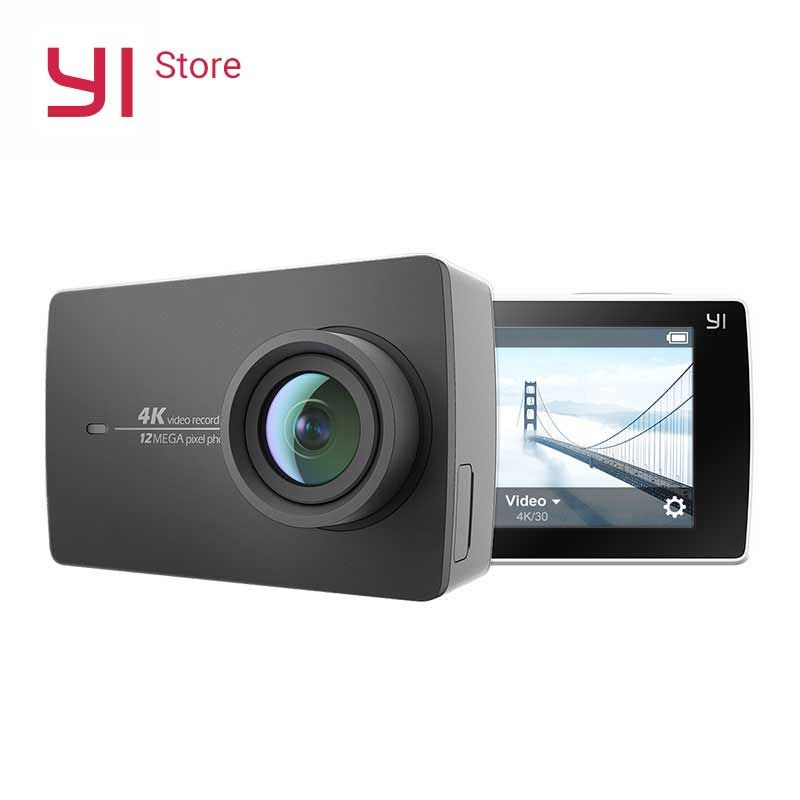 YI 4K Action Camera <font><b>2.19</b></font>LCD 4K/30fps Tough Screen 155 Degree EIS Wifi Black International Edition Ambarella A9SE75 12MP CMOS