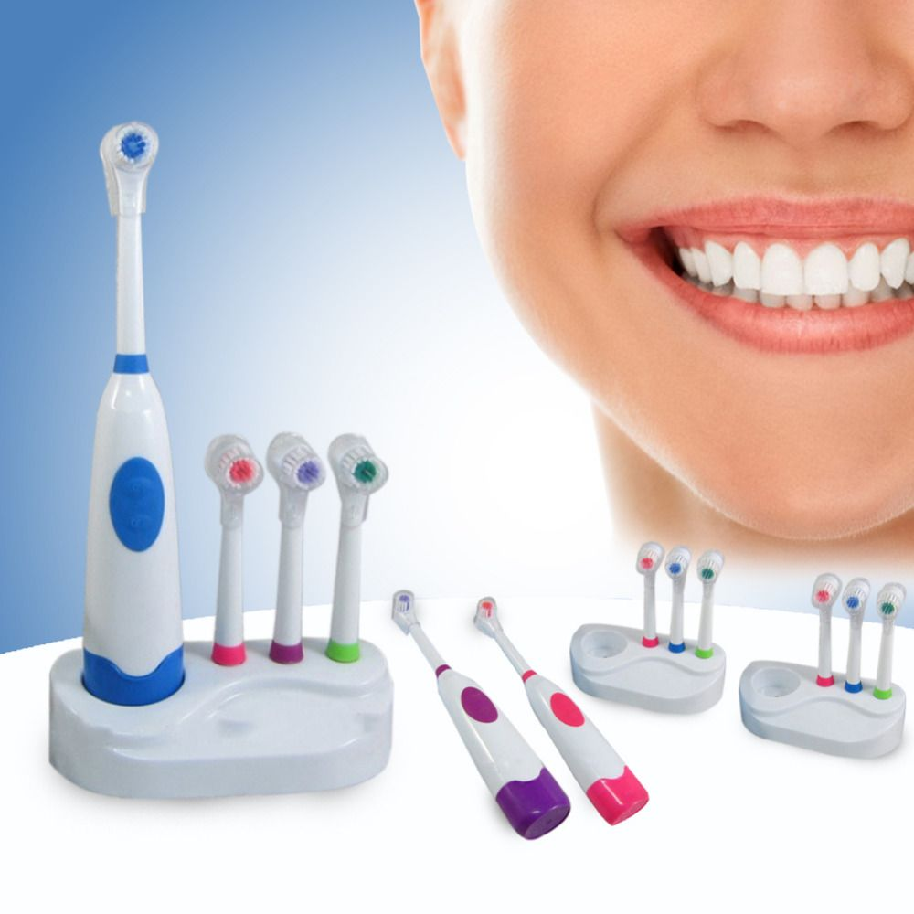 Hot!Electric Toothbrush Rechargeable Teeth Whitening Tooth Brush Battery Powered Dental Equipment Electric Quad Toothbrush Sets