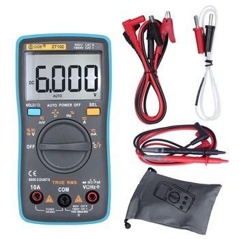 BSIDE ZT102 Туре RMS цифровой мультиметр AC/DC Напряжение ток Температура Ом Частота Диод Сопротивление Емкость Тестер