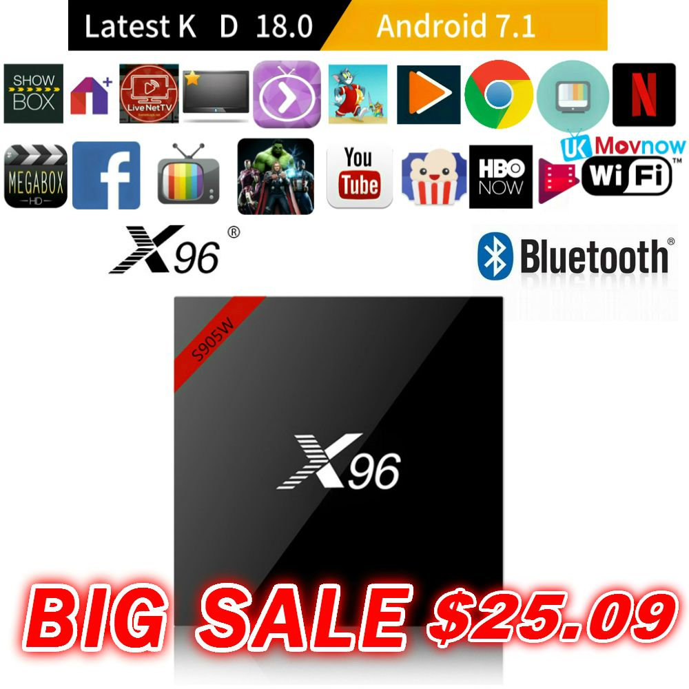 TTVBOX X96 X96W Android 7.1 OS Android TV BOX Amlogic S905W 1GB/8GB 2GB/16GB BT 4.0 2.4GHz WiFi HD 4K Smart TV Box Media Player