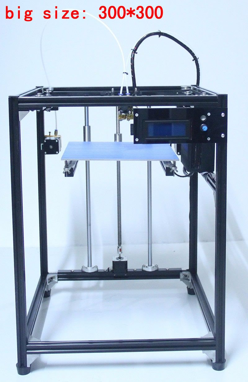 ifancybox 3 XXL dual 2017 big size DIY corexy 3d printer Kit linear guide aluminum Frame dual color extruder 3d printer