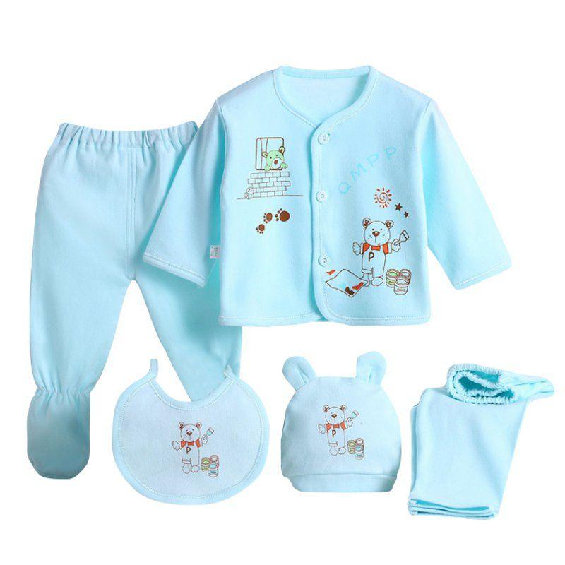 Nouveau bébé vêtements ensemble born garçons filles sous-vêtements doux Animal imprimé chemise et pantalon coton vêtements