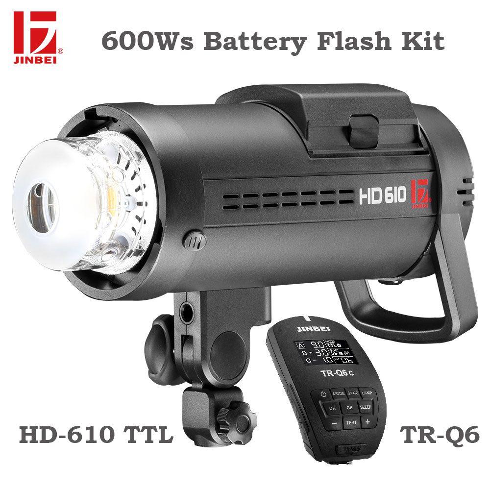 JINBEI HD-610 600 W Outdoor-Batterie-Kit High Speed Sync TTL Batterie Powered Strobe Licht Fotografie mit TR-Q6 Trigger