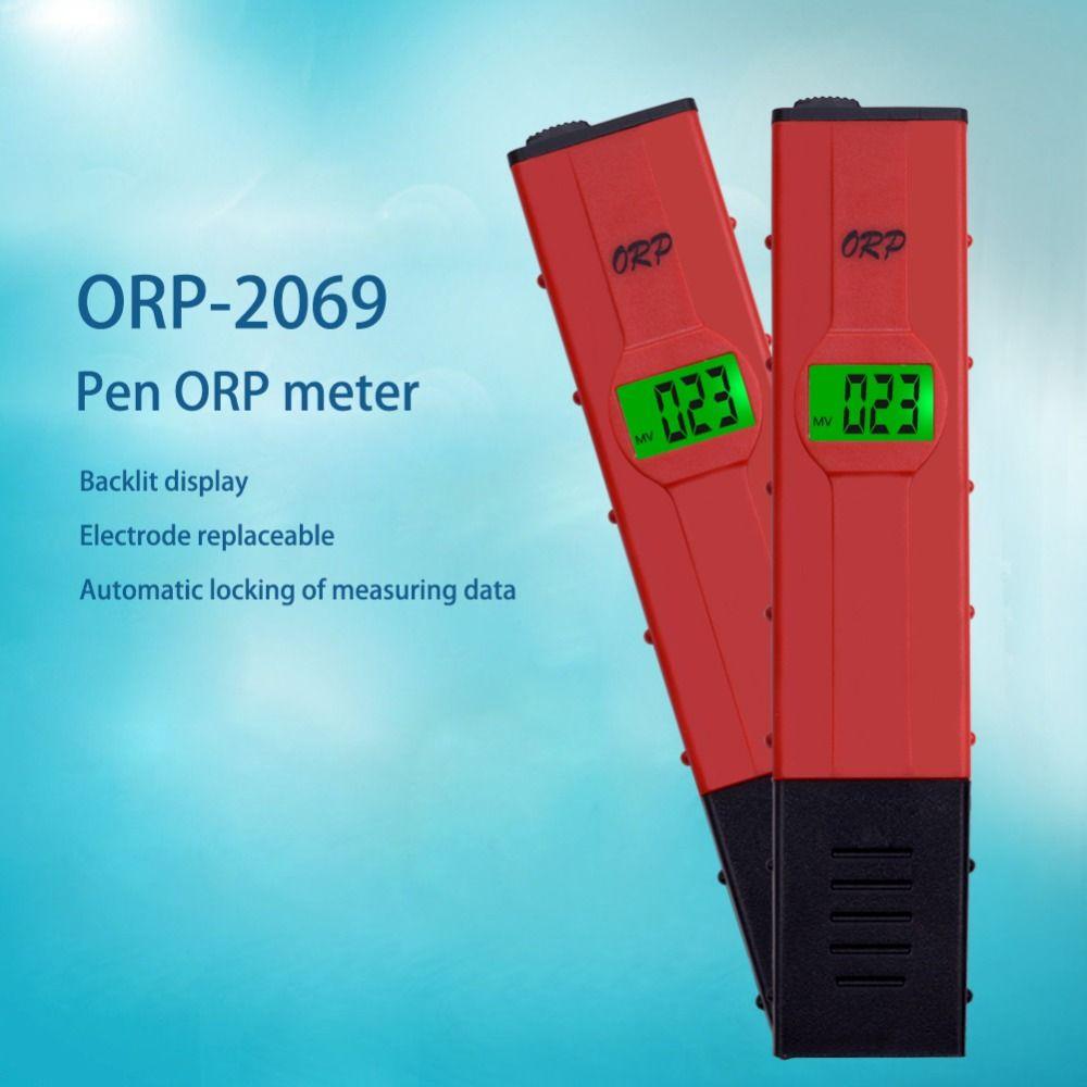 Heißer verkauft LCD Digital neue art roten stift ORP ph tester-1999 ~ 1999mV wasser menge pool tester ORP meter