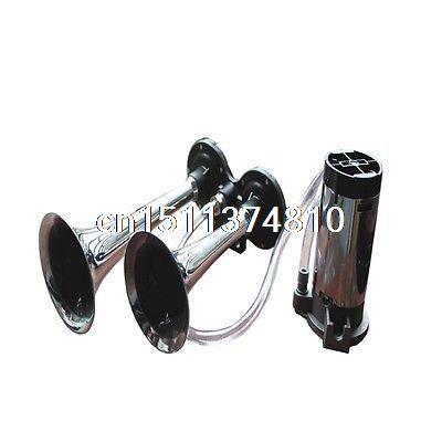 12 V Edelstahl Dual Trompete Lufthorn Kompressor Kit Zug Auto Lkw