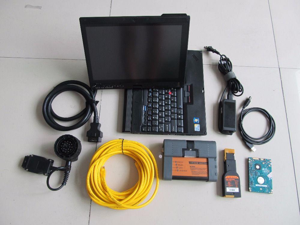 2018 für bmw icom a2 obd voll kabel professional für bmw diagnose programmierung werkzeug mit software 500 gb hdd x200t laptop win7