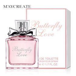 Maycreate 50 мл Для женщин парфюм свежий элегантный цветочный аромат парфюмерии длительный Макияж Женский парфюм Для женщин спрей Стекло бутылк...