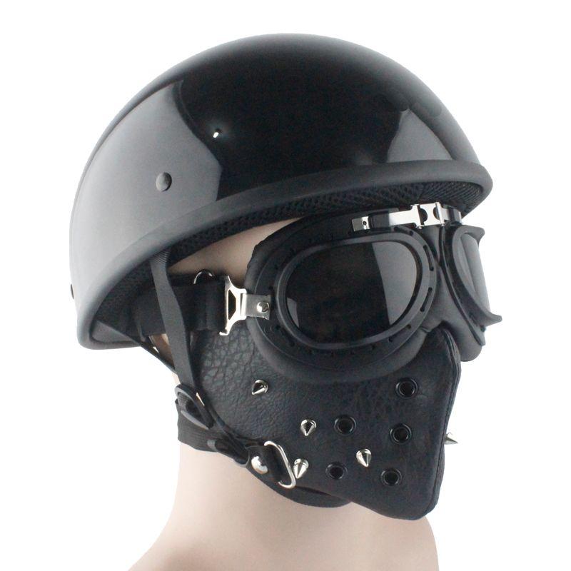 LDMET cascos para moto half face helmet harley casco moto vintage motorcycle helmet pilot summer light retro german