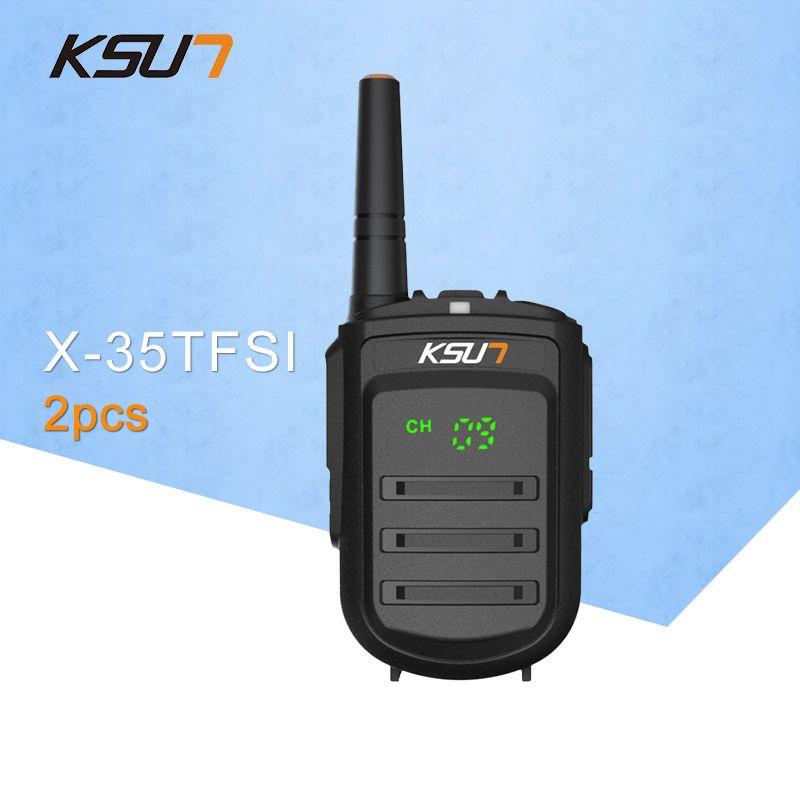 2 PCS KSUN X-35TFSI Walkie Talkie 8W Handheld Pofung UHF 8W 400-470MHz 128CH Two way Portable CB Radio