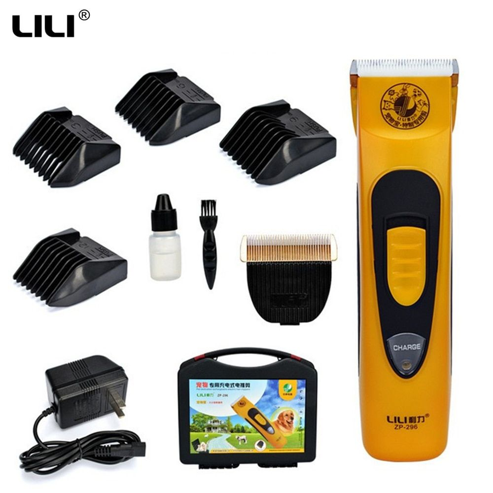 Professional Pet Dog Cattle Rabbits Shaver Scissors 48W Dogs Grooming Electric Hair Clipper Cutting Machine with Spare Head 220V