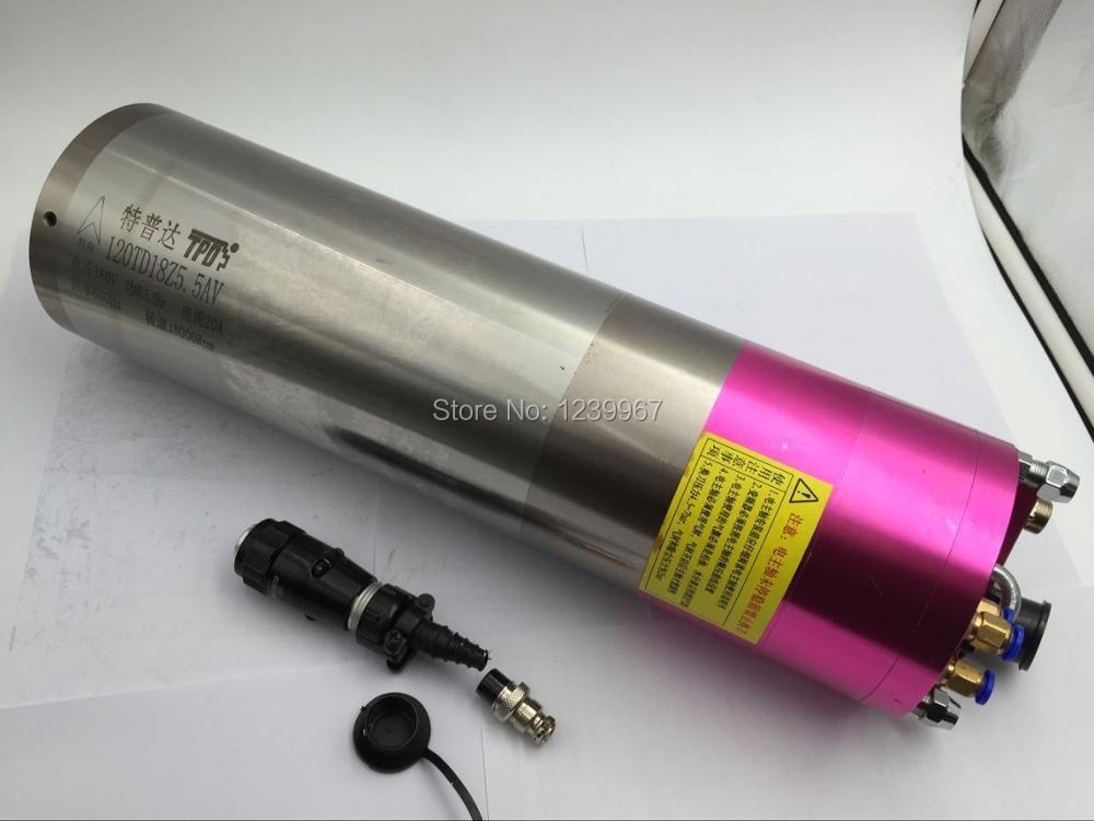 5.5kw с водяным охлаждением УВД шпинделя Двигатель 18000 об./мин. 220 В 20A 600 Гц Автоматическая смена инструмента шпинделя для обработки центр 120td18z5....