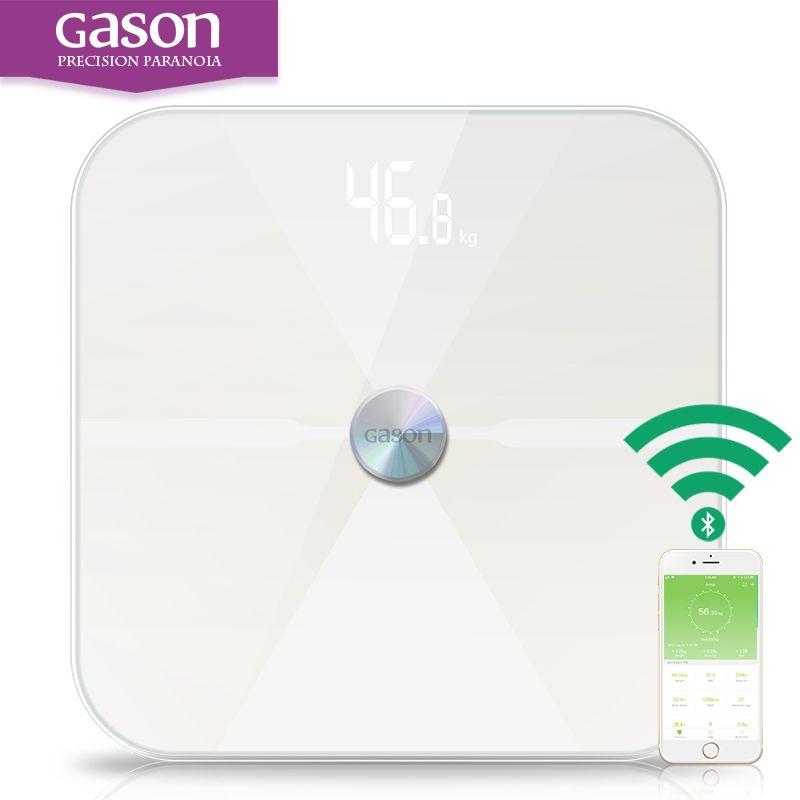 Gason T6 inteligente Básculas piso científica electrónica digital LED Cuerpo grasa peso baño equilibrio hogar Bluetooth App Android